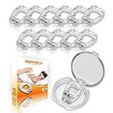Mobi Lock Magnetischer Anti-Schnarch-Nasenclip - Silikon-Schnarchschiene - Schnarchstopper-Clip zur Reduzierung von Geräuschen beim Schlafen & für besseren Schlaf - Wiederverwendbar, 12er Set