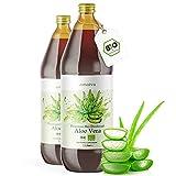Aloe Vera Saft 100% BIO [NEU] - Einführungsangebot - 2 Liter - Premium Qualität mit 1.200mg Aloverose, kontrolliert und abgefüllt in Deutschland