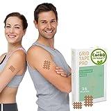 AKTIMED Grid Tape CannaPro - Premium Gittertape mit hochwertigem Extrakt* Patentbasierte Akupunkturpflaster dermatologisch getestet - Crosstape Gitterpflaster Schmerz & Entzündungspunkte*