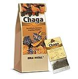 Chaga Pilz portioniert in 20 Beuteln je 1g mit Tassenreiter natürlich wild gesammelt in Sibirien Schonend getrocknet Roh & Vegan In Deutschland Laborgeprüft