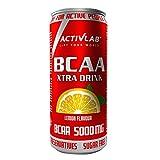 Activlab BCAA Xtra Drink - 330 ml Dose verzehrfertig; Set mit 24 x 330 ml Dosen 5000 mg BCAA in einer Dose; null Zucker; Zitronengeschmack; Aminosäuregetränk; Regeneration des Körpers und Ausdauer