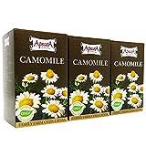 Apsara Kamillentee, 3er Set (60 Teebeutel) Kamillenblüten-Tee, Beutel Kräutertee aus echter Kamille
