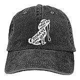 Dogs Make Me Happy Humans Make My Head Hurt Hat Verstellbare Baseballkappe Waschbar Baumwolle Trucker Cap Dad Hat Schwarz