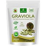 MoriVeda® - Graviola Presslinge 360 x 2000mg Frucht Extrakt 4:1 Vegan, Qualitätsprodukt – Sauersack (1x120 Tabs)
