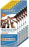 sanotact Magnesium 400mg • 12x30 Tabletten Magnesium hochdosiert • Mit Magnesium+Vitamin D3+Folsäure+Vitamin B1, B6, B12 • Magnesium für Kinder ab 12 Jahren