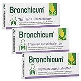 Bronchicum Thymian Lutschtabletten | Sparset mit 3 x 50 Stück | Zur Schleimlösung bei Husten und zur Beruhigung der gereizten Bronchien