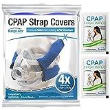 RespLabs CPAP-Gurtabdeckungen - Universal 4er-Pack - Wiederverwendbar, Multi-Fit, Komfortverbesserung. Weiche, Waschbare, Atmungsaktive Stoffwickel