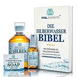 Kolloidales Silber SET + Seife   10PPM   HOCHDOSIERT   300ML gegen Viren, Bakterien & Pilze   Laborgeprüft - Made in Austria   30ml Silberspray & E-Book ANWENDUNGSANLEITUNG   Silberwasser