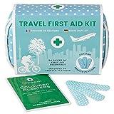 Mini Erste Hilfe Set – 84-tlg. für Unterwegs, Reise, Wandern, Zuhause, Outdoor, in wasserfestem Etui, leichte und kompakte Verbandstasche für die Erstversorgung