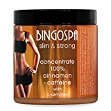 BINGOSPA Anti-Cellulite Abnehmen Zimt und Koffein 100% Konzentrat mit L-Carnitin fur Straffung und Modelierung - 250 g