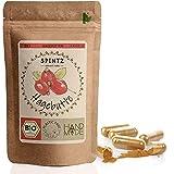 SPINTZ 210 Stk. Bio Hagebutten Kapseln - hochdosierte Hagebutten Tabletten - 500mg Hagebuttenpulver aus biologischem Anbau - vegan, natürlich - Superfood - gemahlene Hagebutte | plastikfrei verpackt