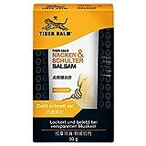 TIGER BALM Nacken & Schulter Balsam – Natürlicher Balsam bei Verspannungen im Nacken- & Schulterbereich – Pflegende Einreibung ideal für unterwegs – 1 x 50 g