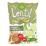 Lentil Chips Jalapeno & Lime, Linsen-Chips Jalapeño- und Limetten-Geschmack, nur 17% Fett, 13% Protein, 100 g