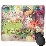 Farbe Sonnenblumenöl Gemälde und Insekten essen Eidechse Rechteckiges rutschfestes Gaming-Mauspad Tastatur Gummi-Mauspad für Heim- und Büro-Laptops