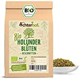 Bio Holunderblüten Tee (100g) | Holunderblütentee | Holunder | organic elder flowers cut vom Achterhof