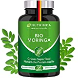 Moringa Oleifera Kapseln | BIO-Qualität OHNE Zusätze | Energy Caps 4 MONATSVORRAT | Qualitätsprodukt von NUTRIMEA® | SUPERFOOD reich an Protein, Vitamin C, Aminosäuren Olifeira 100% VEGAN