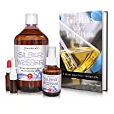 Kolloidales Silber 1000ml / 25ppm, Silberwasser mit Sprühflasche 100 ml, Nasensprayflasche, Pipettenflasche, Messbecher, E-Book in 5 Sprachen zum Download, Laborgeprüft, Hohe Konzentration