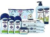 Bübchen Babypflege-Starterset 7 teiliges Pflegeset für Neugeborene mit praktischer Tasche, 1er Pack (7 Produkte)