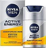 NIVEA MEN Active Energy Gesichtspflege Creme (50 ml), revitalisierende Gesichtscreme für Männer, schnell einziehende Feuchtigkeitscreme gegen Zeichen von Müdigkeit