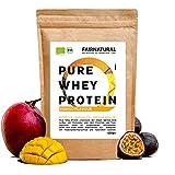 BIO WHEY Protein-Pulver Mango [aus Deutschland] ohne Soja - Hochwertige Bio Eiweiß-Shakes » 100% NATÜRLICH « 650g Bio Eiweiß-Pulver aus Premium Molkenprotein-Pulver
