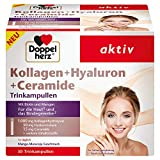 Doppelherz Kollagen + Hyaluron + Ceramide – Mit Biotin, Zink und Niacin als Beitrag für den Erhalt normaler Haut – 30 Trinkampullen