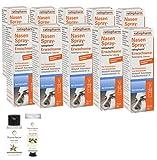 Nasenspray ratiopharm 15 ml - 10er Sparpackung und eine Handcreme o. Duschbad der Marke Pharma Nature