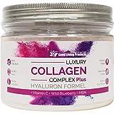 Luxury Collagen Complex Plus – Premium Collagen Complex (1 Dose je 330g) – Collagen Pulver mit 4 verschiedenen Collagen Typen