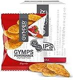 GYMPER by Layenberger Gymps Power Snack Paprika, Protein-Chips ohne Soja mit viel Eiweiß, nicht frittiert, im Portionsbeutel (6 x 25g)