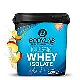 Bodylab24 Clear Whey Isolate 1200g Mango, Eiweiß-Shake aus 96% hochwertigem Molkenprotein-Isolat, erfrischender fruchtiger Drink, Whey Protein-Pulver kann den Muskelaufbau unterstützen