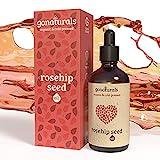 GoNaturals Hagebuttenöl Bio kaltgepresst für natürliche Anti Aging Gesichtspflege, Wildrosenöl Bio kaltgepresst als pflegende Bio Oil Skincare, Gesichtsöl und Kopfhaut Pflege, Rosehip Oil - 100ml