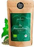 BIO Brennnesselblätter Tee - Brennesseltee, geschnitten, lose getrocknete Blätter - Nettle leaves - Kräutertee Bio-Qualität - geprüft und abgefüllt in Deutschland (DE-ÖKO-39)   80DEGREES (250g)