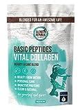 Collagen Pulver - Kollagen Pulver mit Ballaststoffen und Vitamin C ⍟ Kollagen Peptide Typ I, II und III ⍟ Beauty Drink Kollagen - leicht süßlich - 30 Portionen 300g