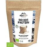 AlpenPower BIO REISPROTEIN 600g I Ohne Zusatzstoffe I 100% reines Reisprotein-Isolat I Hochwertiges Eiweiß I Vegan & vielseitig anwendbar I Low Carb