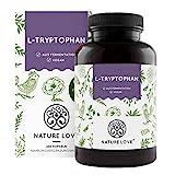 NATURE LOVE® L-Tryptophan – 240 Kapseln, laborgeprüft, hochdosiert mit 500 mg je Tagesdosis, vegan und in Deutschland produziert – ohne unnötige Zusätze