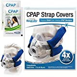 RespLabs CPAP Kopfbedeckung Gurtabdeckungen, Universelle und Wiederverwendbare Weiche Fleece-Maskenpolster, 4er-Pack