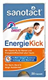 sanotact EnergieKick Kapseln - 20 Stk, Energie Kick mit Koffein, Taurin und Vitamin B2, handliche Verpackung, geschmacksneutral