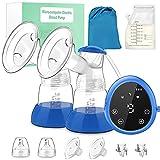Elektrische Milchpumpe Doppelmilchpumpe 3 Modi 9 Geschwindigkeiten 10 Muttermilchbeutel 180 ml Milchflasche Wiederaufladbare Milchpumpe Leise Tragbare Elektrische Milchpumpe LED-Bildschirm BPA-frei
