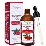 Vsadey Hagebuttenöl 100ml - 100% Rein Natura, Kaltgepresst, Unraffiniert, Vegan - Premium Hagebuttenkernöl für Haare, Gesicht, Körper, Haut, Nägel
