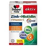 Doppelherz Zink + Histidin DEPOT – Mit 15 mg Zink als Beitrag für die normale Funktion des Immunsystems und für den Erhalt normaler Haut – 100 Tabletten