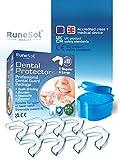 Aufbissschiene Gegen Zähneknirschen 8 x UK Designed Zahnschiene für Nachtschleifen, Medizinprodukt der Klasse 1 in Großbritannien (UKCA) und EU (CE) akkreditiert, BPA-freie Beissschiene für Bruxismus