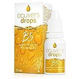 Ocuvers Drops B5 - Hochdosierte Augentropfen 15ml mit 2% Dexpanthenol und Hydraflex gegen trockene, rote, brennende Augen. Befeuchtende Tropfen ohne Ethanol. Für Kontaktlinsen-Träger geeignet