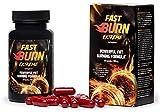 FAST BURN EXTREME - Hochwertiges Premium-Nahrungsergänzungsmittel, leistungsstarke Formel zur Fettverbrennung, 60 Kapseln / 800 mg