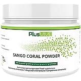 PlusVive - Sango Korallen Pulver - reines Pulver aus der Sango Meereskoralle mit 20% natürlichem Kalzium und 10% natürlichem Magnesium - 300 Gramm - abgefüllt in Deutschland