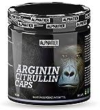 L-CITRULLIN + L-ARGININ Kapseln - 360 Caps hochdosiert + vegan - 3000mg Citrullin + Arginin pro Portion - Fitness und Bodybuilding - Premiumqualität ohne Zusatzstoffe