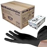 SFM ® BLACKLETS Nitril : XS, S, M, L, XL schwarz puderfrei F-tex Einweghandschuhe Einmalhandschuhe Untersuchungshandschuhe Nitrilhandschuhe L (1000)