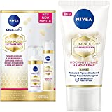 NIVEA Cellular Luminous 630 Tagespflege Fluid + Intensiv Serum Set,Gesichtspflege Set reduziert die 3 Typen von Pigmentflecken + Luminous Anti-PigmentfleckenHand Creme 50ml