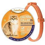 LXTDJ Beruhigungshalsband für Katzen, einstellbares Anti-Angst-Halsband für Katzen, wasserdichtes Halsband für Ihr Haustier -38cm, dauerhafte Beruhigung