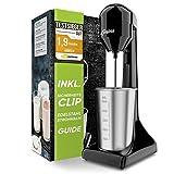 Liebfeld - Shake Mixer TESTSIEGER I Eiweiß Shaker elektrisch für Shakes wie im Fitnessstudio I Milchshake Mixer mit 500ml Edelstahl Becher I Protein Mixer für Milchshake, Frappe & Co