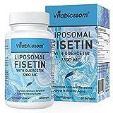 Liposomales Fisetin mit Quercetin 1200mg | natürliche senolytische Ergänzung | Hohe Absorption Antioxidans Flavonoid-Vitamin-Ergänzung | Entzündungshemmende & Immununterstützung | 60 Softgels