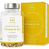 Vitamin D3 Hochdosiert DEPOT [ 5000 IU ] - Kaltgepresstes natives Olivenöl extra für optimale Absorption - Ohne Gentechnik, glutenfrei und laktosefrei - 365 Kapseln